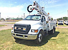 Altec AT37G, Articulating & Telescopic Bucket Truck mounted behind cab on 2007 Ford F750 Utility Truck