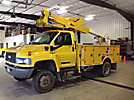 Altec AT37G, Articulating & Telescopic Bucket Truck mounted behind cab on 2008 Chevrolet C5500 4x4 Service Truck