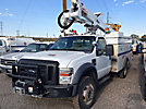 Altec AT37G, Articulating & Telescopic Bucket Truck mounted behind cab on 2008 Ford F550 4x4 Service Truck