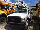 Altec AT37G, Articulating & Telescopic Bucket Truck mounted behind cab on 2008 Ford F550 Service Truck