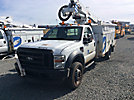 Altec AT37G, Articulating & Telescopic Bucket Truck mounted behind cab on 2009 Ford F550 4x4 Service Truck