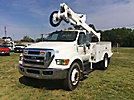Altec AT37G, Articulating & Telescopic Bucket Truck mounted behind cab on 2009 Ford F750 Utility Truck
