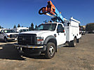 Altec AT37G, Articulating & Telescopic Bucket Truck mounted behind cab on 2010 Ford F550 4x4 Service Truck