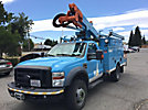 Altec AT37G, Articulating & Telescopic Bucket Truck mounted behind cab on 2010 Ford F550 4x4 Utility Truck, PTO reads 1633 (hours)