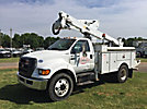 Altec AT37G, Articulating & Telescopic Bucket Truck mounted behind cab on 2010 Ford F750 Utility Truck