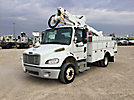 Altec AT37G, Articulating & Telescopic Bucket Truck mounted behind cab on 2010 Freightliner M2 106 Utility Truck