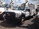 Altec AT37G, Articulating & Telescopic Bucket Truck mounted behind cab on 2011 Ford F550 Service Truck