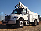 Altec AT37G, Articulating & Telescopic Bucket Truck mounted behind cab on 2011 Freightliner M2 Utility Truck