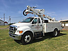 Altec AT37G, Articulating & Telescopic Bucket Truck mounted behind cab on 2012 Ford F750 Utility Truck