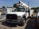 Altec AT37G, Articulating & Telescopic Bucket mounted behind cab on 2008 Ford F550 Utility Truck