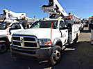 Altec AT40-MH, Articulating & Telescopic Material Handling Bucket Truck mounted behind cab on 2011 Dodge W5500 4x4 Service Truck