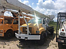 Altec Bucket Truck center mounted on 1990 GMC C7500 Flatbed Truck