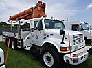 Altec D1000-TB, Digger Derrick mounted behind cab on 1996 International 4900 T/A Utility Truck