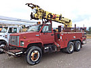 Altec D2045B-TR, Digger Derrick rear mounted on 1995 GMC C7500 Flatbed/Utility Truck