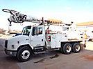 Altec D2050-BR, Digger Derrick, rear mounted on, 2001 Freightliner FL80 T/A Flatbed/Utility Truck