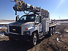 Altec D2050-BR, Digger Derrick, rear mounted on, 2005 Chevrolet C8500 T/A Flatbed/Utility Truck