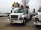 Altec D2050-BR, Digger Derrick, rear mounted on, 2005 Chevrolet C8500 T/A Utility/Flatbed Truck