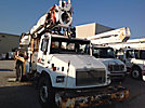 Altec D2050-TR, Digger Derrick, rear mounted on, 1999 Freightliner FL80 T/A Flatbed/Utility Truck