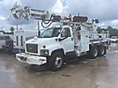 Altec D2050-TR, Digger Derrick rear mounted on 2009 Chevrolet C8500 T/A Flatbed/Utility Truck