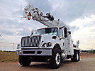 Altec D2050A-TR, Digger Derrick rear mounted on 2013 International 7400 Flatbed/Utility Truck