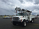 Altec D3050-TR, Digger Derrick, rear mounted on 2008 International 7400 T/A Flatbed/Utility Truck,