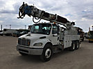 Altec D3055-TR, Digger Derrick rear mounted on 2007 Freightliner M2 106 T/A Flatbed/Utility Truck