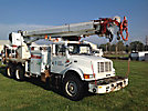 Altec D3060-TR, Digger Derrick, rear mounted on, 2000 International 4900 T/A Flatbed/Utility Truck