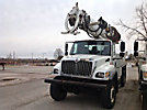 Altec D3060-TR, Digger Derrick, rear mounted on, 2006 International 7400 6x6 Flatbed/Utility Truck