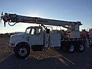 Altec D3060-TR, Digger Derrick rear mounted on 2001 International 4900 T/A Flatbed/Utility Truck