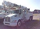 Altec D3060A-TR, Digger Derrick rear mounted on 2009 Kenworth T300 T/A Utility Truck