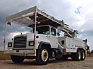Altec D4050-TR, Digger Derrick rear mounted on 2001 Mack RD690S Utility Truck