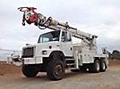 Altec D4060-TR, Digger Derrick, rear mounted on, 2002 Freightliner FL80 6x6 Flatbed/Utility Truck