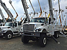 Altec D4065-TR, Digger Derrick, rear mounted on 2009 International 7400 6x6 Flatbed/Utility Truck,