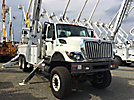 Altec D4065-TR, Digger Derrick, rear mounted on 2009 International 7400 6x6 Utility Truck,