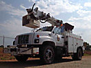 Altec D820-BR, Digger Derrick, rear mounted on, 1999 Chevrolet C6500 Utility Truck