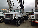 Altec D842, Digger Derrick, center mounted on, 1994 GMC Topkick Flatbed/Utility Truck