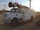 Altec D842-AB, Digger Derrick, corner mounted on, 1996 International 4900 Utility Truck