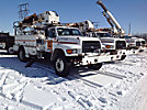Altec D842-ABB, Digger Derrick, mounted behind cab on, 1995 Ford F800 Utility Truck