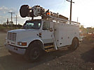 Altec D842-ABC, Digger Derrick, corner mounted on, 1996 International 4900 Utility Truck