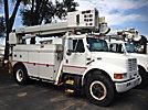 Altec D842-ABC, Digger Derrick, corner mounted on, 1998 International 4900 Utility Truck