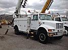 Altec D842-ABC, Digger Derrick, corner mounted on, 1999 International 4900 Utility Truck