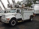 Altec D842-ABC, Digger Derrick, corner mounted on, 2001 International 4900 Utility Truck