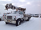 Altec D842-ATR, Digger Derrick, center mounted on, 1997 GMC C7500 Flatbed Truck