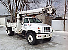 Altec D842-ATR, Digger Derrick, center mounted on, 1998 GMC C7500 Flatbed/Utility Truck