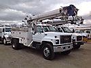 Altec D842-ATR, Digger Derrick center mounted on 2002 GMC C7500 Flatbed Truck
