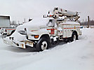 Altec D842-BB, Digger Derrick, mounted behind cab on, 1995 Ford F800 Utility Truck