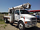 Altec D842-TR, Digger Derrick, rear mounted on, 2004 Sterling Acterra Flatbed Truck