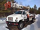 Altec D842A-TR, Digger Derrick center mounted on 1998 GMC C7500 Flatbed Truck