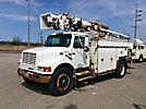 Altec D845-ABC, Digger Derrick, corner mounted on, 2001 International 4900 Utility Truck