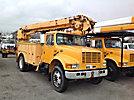 Altec D845-ABC, Digger Derrick, corner mounted on, 2002 International 4700 Utility Truck